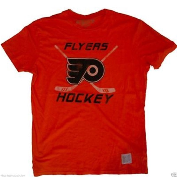 new style a5312 50077 Original Retro Brand Philadelphia Flyers Mens Tee NWT
